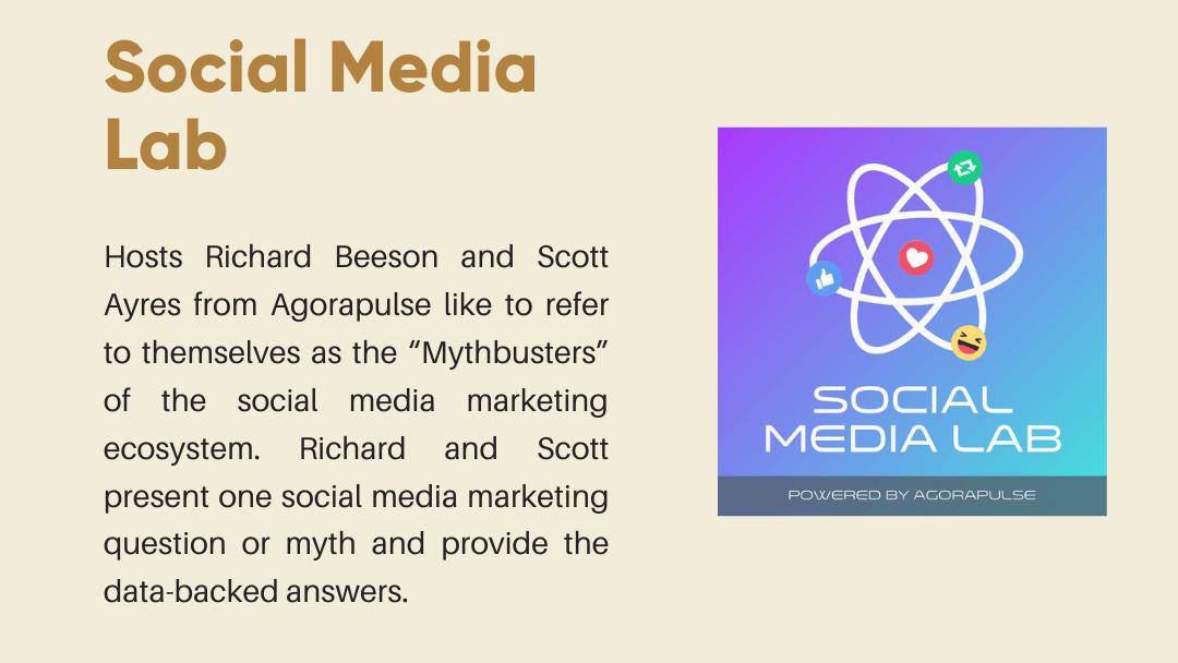 Social Media Lab Podcast Thumbnail and brief explanation
