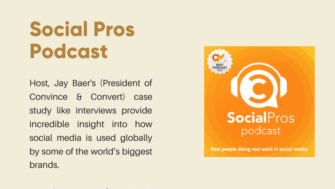Social Pros Podcast Thumbnail and brief explanation