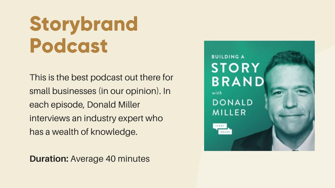 Storybrand Podcast Thumbnail and brief explanation